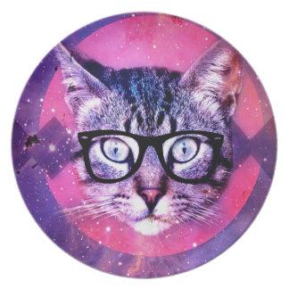 Space Cat Melamine Plate