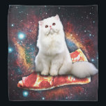 """Space cat pizza bandana<br><div class=""""desc"""">funny cat, space cat , white cat, pizza funny meme sitting , galaxy pet fast food , kitten universe lolcats feline , kittens cute humor little , animal fluffy furry domestic,  young paw adorable beautiful , pretty tabby happy kitty , </div>"""