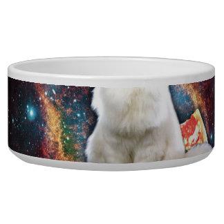 Space cat pizza bowl