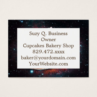 Space cat pizza business card
