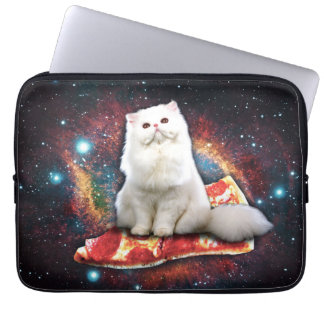Space cat pizza laptop sleeve