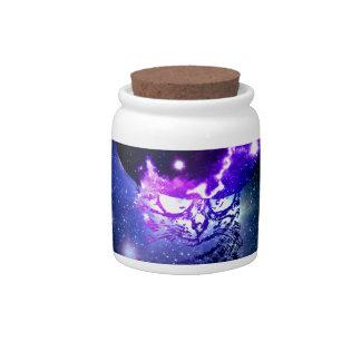 Space Cat Portrait3 Candy Jars