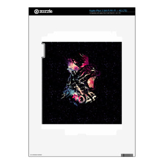 Space Cat Portrait Decal For iPad 3