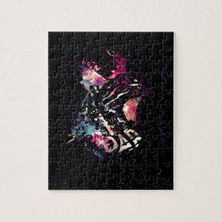 Space Cat Portrait Jigsaw Puzzle
