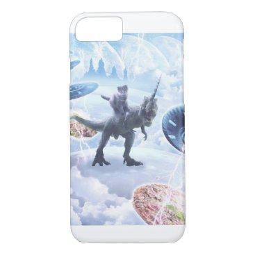 Space Cat Riding Dinosaur Unicorn - Pizza & Taco iPhone 8/7 Case