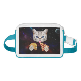Space Cat with taco and pizza Fanny Pack