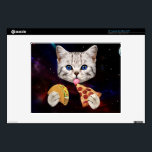 """Space Cat with taco and pizza Skin For Laptop<br><div class=""""desc"""">pizza cat, cat memes, funny cats, space cat , taco cat, cute cats , galaxy kitty cosmic universe , kittens cosmos meow meme, pet cute feline lolcats , </div>"""