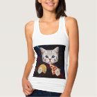 Space Cat with taco and pizza Tank Top