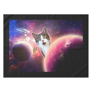 """Space Cats"" LOL Cotton Tablecloth, 52""x70"" Tablecloth"