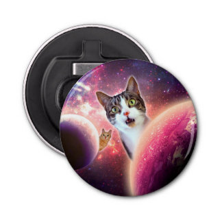 """""""Space Cats"""" LOL Funny Bottle Opener"""