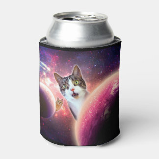 """""""Space Cats"""" LOL Funny Can Cooler"""