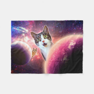 "Space Cats LOL Funny Fleece Blanket, 30""x40"""