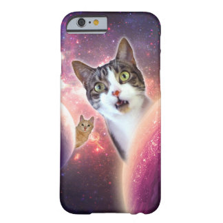 Space Cats LOL Funny iPhone Case Barely There iPhone 6 Case