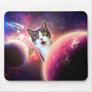 Space Cats LOL Funny Mousepad