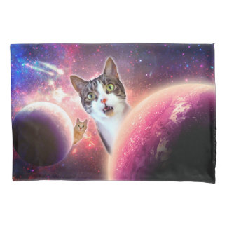 """""""Space Cats"""" LOL Funny Pillowcases"""
