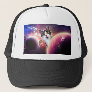 Space Cats LOL Funny Trucker Hat