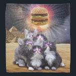 """space cats looking for the burger bandana<br><div class=""""desc"""">cat , cats , puppy , egypt , pyramids , &quot;egyptian cat&quot; , &quot;cat burger&quot; , &quot;cat pyramid&quot; , &quot;cat egyptian &quot;, pet , pussy , meme , galaxy , animal , burger , cute , kittens , &quot;funny cat &quot;, meow , meowing , adorable , egyptian , hamburguer ,...</div>"""