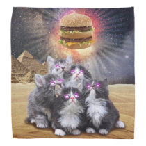 space cats looking for the burger bandana