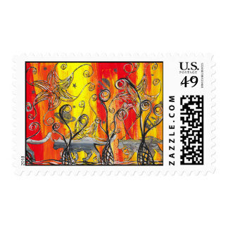 Space Cats postage