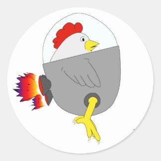 Space Chicken Classic Round Sticker