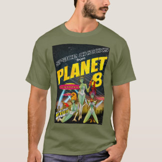 Space Chicks From Planet 8_full color T-Shirt