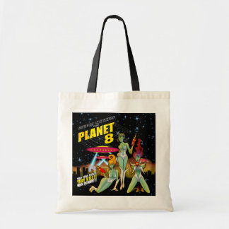 Space Chicks From Planet 8 Tote Bag
