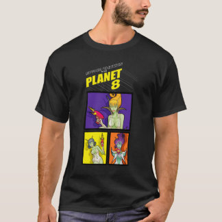 Space Chicks From Planet 8 w/shirt_3_tile T-Shirt