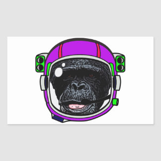 Space Chimp Rectangle Sticker