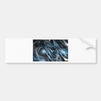 Space Chrome Bumper Sticker