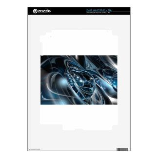 Space Chrome Decals For iPad 2