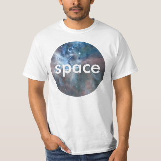 Space Circular Cloud Photo Design. Customize Text T-Shirt