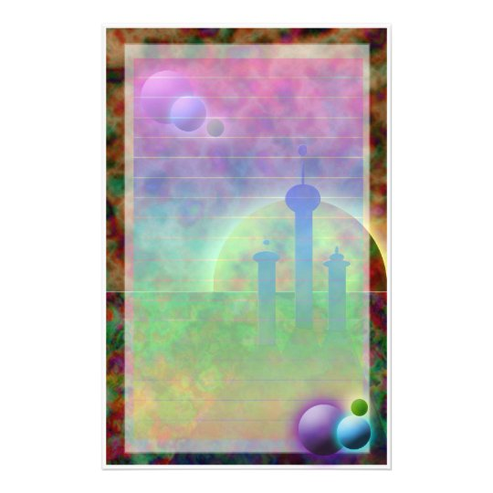 Space City (Lighter Version*) Stationery