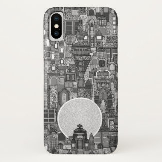 space city mono bw iPhone x case