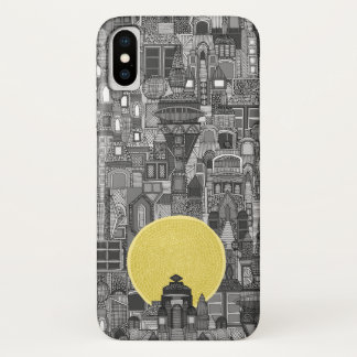 space city sun bw iPhone x case
