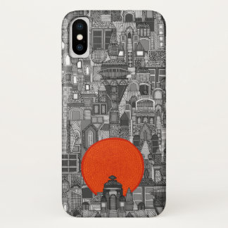 space city sun red iPhone x case