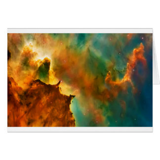 Space cloud nebula card
