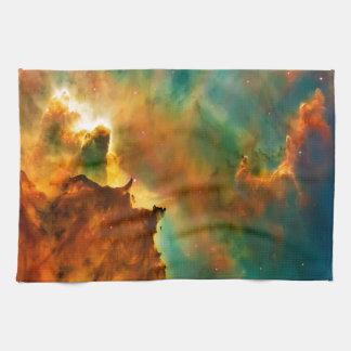Space cloud nebula hand towel