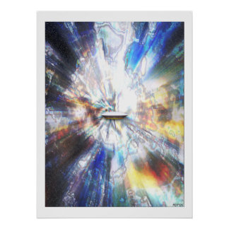 Space Clouds Craft Poster