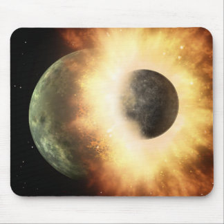 Space Collision Mouse Pad
