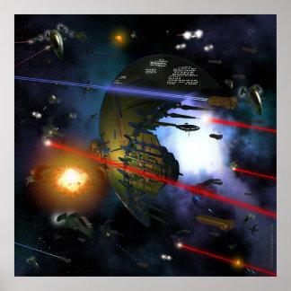 Space Combat Poster