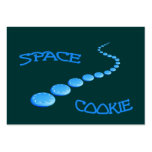 Space Cookie Frisbee Business Card Templates