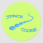 Space Cookie Frisbee Classic Round Sticker