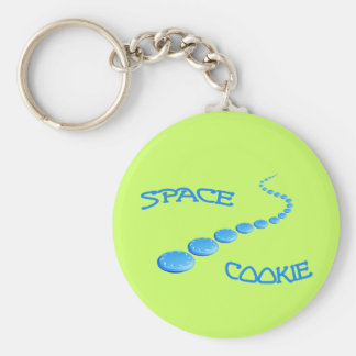 Space Cookie Frisbee Keychain
