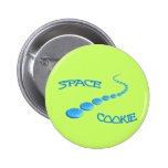 Space Cookie Frisbee Pinback Buttons