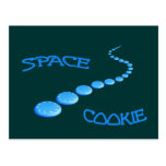 Space Cookie Frisbee Postcard
