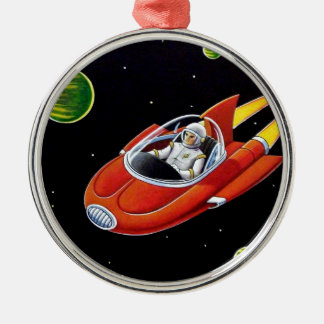 SPACE COUPE METAL ORNAMENT