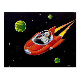 SPACE COUPE POSTCARD