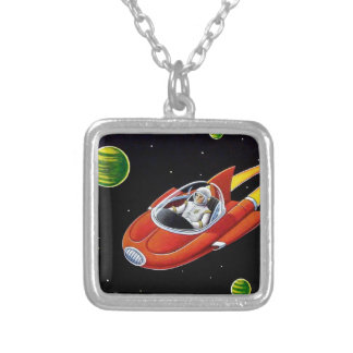 SPACE COUPE SILVER PLATED NECKLACE
