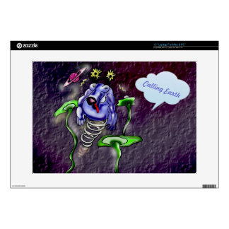 """Space cow flying in space 15"""" laptop decals"""
