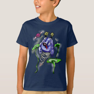 Space cow flying in space T-Shirt